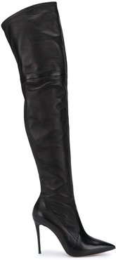 over-the-knee stiletto boots - Black
