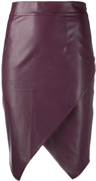 faux-leather skirt - Red
