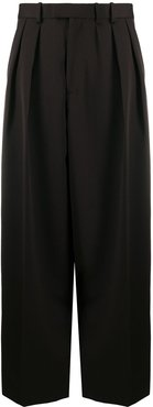 wide leg tailored trousers - Brown