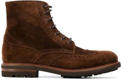 ankle length lace-up boots - Brown