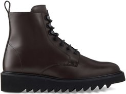 Brassline lace-up boots - Brown