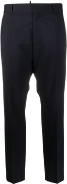 tailored cropped trousers - Blue