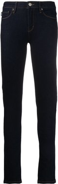 embroidered logo skinny jeans - Blue
