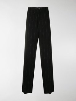 logo-stripe loose-fit trousers