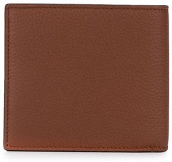 foldover leather wallet - Brown