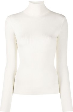 long sleeved roll-neck top - Neutrals