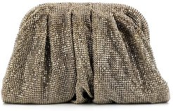 crystal embellished small clutch - Neutrals