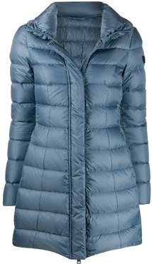 mid-length down-filled coat - Blue