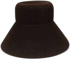 high bucket hat - Brown