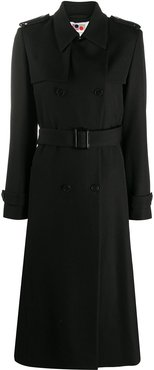 double-breasted trench coat - Black