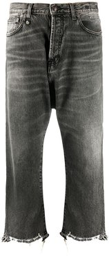 Tailored Drop mid-rise straight jeans - Grey
