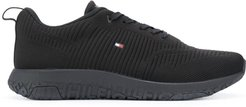 ribbed texture snakers - Black