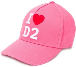 embroidered logo cap - PINK