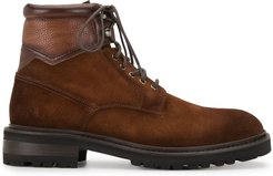 lace-up leather boots - Brown