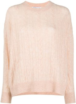 cashmere cable-knit jumper - PINK