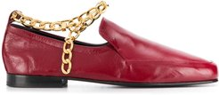 Nick leather 15mm loafers - Red