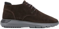 lace-up sneaker boots - Brown