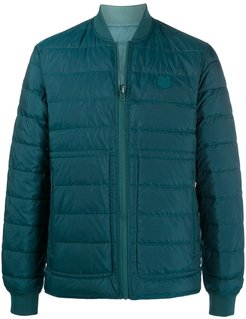 padded zip-up down jacket - Blue