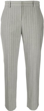 tailored cropped pinstripe trousers - Grey