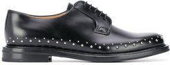 studded lace-up shoes - Black