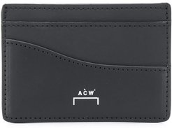 logo debossed cardholder - Black