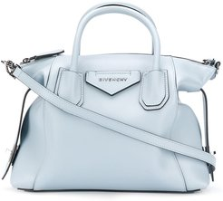 small calf leather tote bag - Blue
