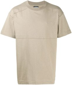 embroidered-logo cotton T-shirt - Brown