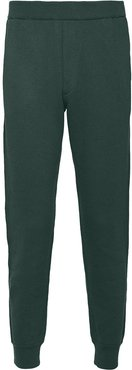 logo-patch cropped track pants - Green