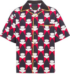 abstract print shirt - Red