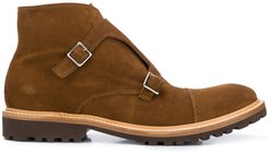 monk-strap ankle boots - Brown