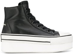 Jess high-top platform trainers - Black