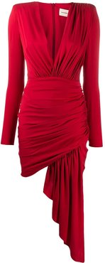 ruched mini dress - Red