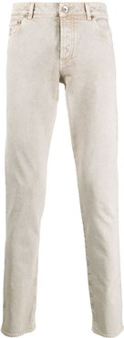 mid-rise slim fit jeans - Neutrals