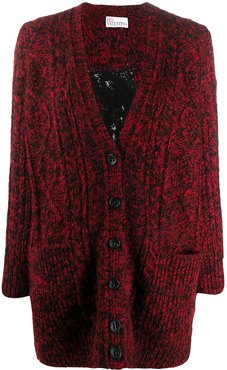 Red Girl embroidery cardigan