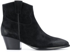 Houston suede ankle boots - Black