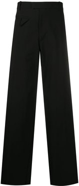 loose-fit cotton trousers - Black