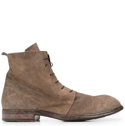 suede lace-up ankle boots - Neutrals