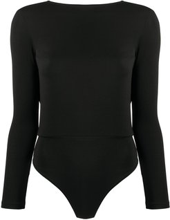 V-back jersey top - Black