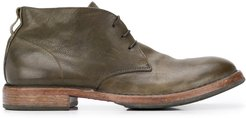 lace-up desert boots - Green