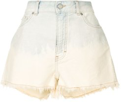 frayed denim shorts - Blue