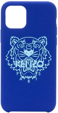 tiger motif iPhone 11 Pro case - Blue