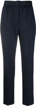 belted high-rise trousers - Blue