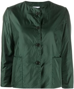 cropped bomber jacket - Green