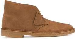 suede-effect desert boots - Brown