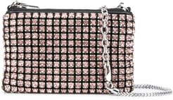 crystal embellished clutch - PINK