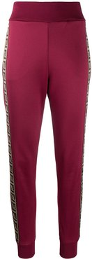 logo-tape track pants - Red