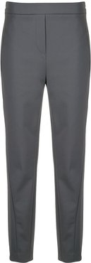 high-waisted straight leg trousers - Grey