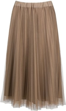 Parallel pleated midi skirt - Grey