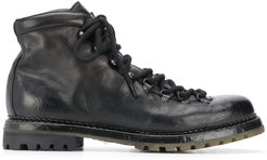 lace-up mountain boots - Black