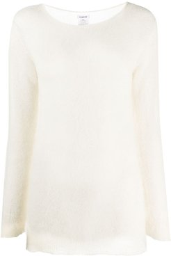 long-sleeve fitted jumper - Neutrals